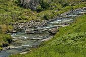 Mountain river in Giants Castle KwaZulu-Natal nature reserve