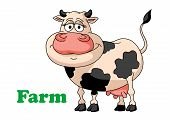 Cartoon farm cow
