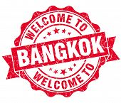 Welcome To Bangkok Red Vintage Isolated Seal