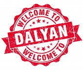Welcome To Dalyan Red Vintage Isolated Seal