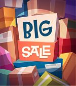 Big sale card \ poster design. Vector illustration