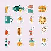 Food icons - flat style.