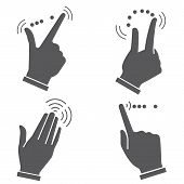 gesture hand for touch devices