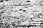 Abstract Black and White Brick Wall