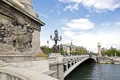 Bridge Alexandre III, of the left bank to the Grand Palais  Paris France