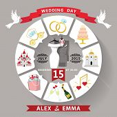 Wedding Invitation In Infographic Style.wedding Wear