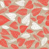Background with exotic leaves. Seamless pattern