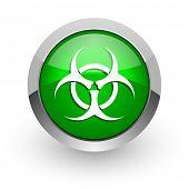 biohazard green glossy web icon