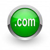 com green glossy web icon