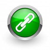 link green glossy web icon