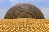 Wat Phra Dhammakaya  Is A Buddhist Temple In Bangkok, Thailand