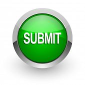 submit green glossy web icon