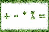 Grass Symbols Quotients Positive Remove Multiply Division