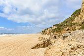 Boulders On Praia Do Norte, Nazare (portugal)