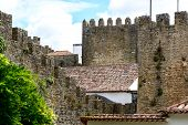 Castle And Wall Of Obidos (portugal)