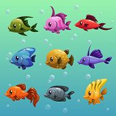 Cartoon fishes