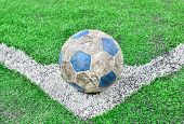 Soccer Football Field Stadium Grass Line And Ball Background