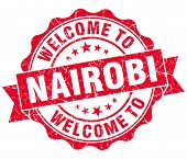 Welcome To Nairobi Red Vintage Isolated Seal