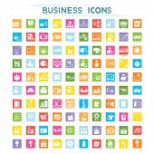 business icons, flat icons
