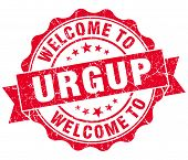 Welcome To Urgup Red Vintage Isolated Seal