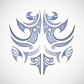 picture of maori  - Vector illustration for maori tribal tattoo shape - JPG