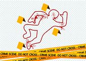 image of crime scene  - an images of  Crime scene danger tapes illustration - JPG