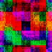 Rainbow Blurred Pixel Bid And Small Seamless Pattern