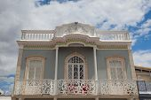 Tavira,portugal-june 7,2014: Historic Architecture With Moorisch Elements In Tavira City