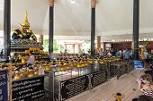 Nakornpathom, Thailand - Jul 5, 2014 : Thai And Indian God Name