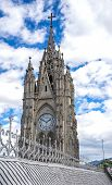 Steeple of the Basilica Church in Quito, Ecuador