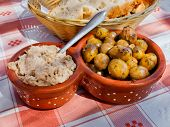 Tuna Salad And Olives Marinated  In Vinaigrette. Italian And Portuguese Appetizers.