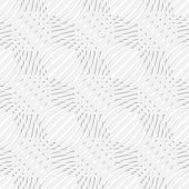White Simple Wavy With Small Details Perforated Seamless Pattern