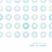 Abstract Textile Snowflakes Dots Horizontal Frame Seamless Pattern Background