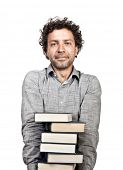 portrait of adult student with books