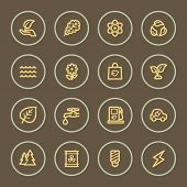 Eco web icons set, coffee series