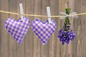hearts and lavender