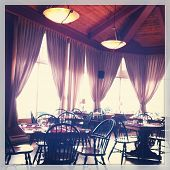 View of inside a restaurant - With Instagram effect