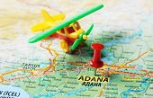 Adana ,turkey  Map Airport