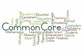 image of common  - Common Core Word Cloud on White Background - JPG