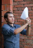 Happy Worker With Documents