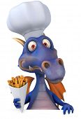 Dragon and french fries