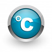 celsius blue glossy web icon