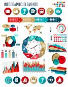 Vacation and travel infographics template.
