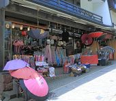 Japanese umbrella shop in Kanazawa