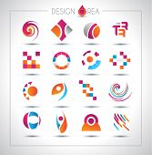 Set of design elements for your project. Mixed abstract shapes with shadows