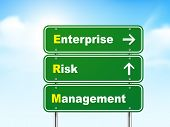 3D Enterprise Risk Management Road Sign