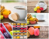 Collection of French colorful macarons