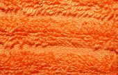 Texture Of Bright Orange Terry Towels Very Closeup