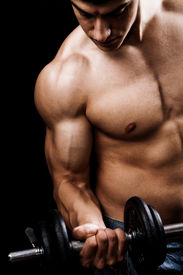 stock photo of lifting weight  - Fitness  - JPG