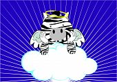 baby zebra angel cartoon background